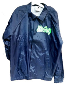 Athletic Threads Blue Windbreaker Jackets