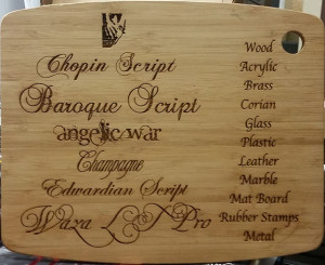 Athletic Threads Example Engraved Wood Panel