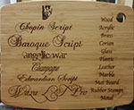 Athletic Threads Laser Engraved Wood Panel Thumbnail