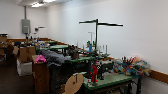Athletic Threads Sewing Machine Station Line
