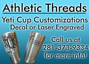 Athletic Threads Customized Yeti Cups